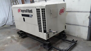 375 Cfm Ingersoll Rand John Deere Skid Mounted Air Compressor Only 1546 Hours
