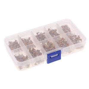 500pcs 0 1uf 10uf Monolithic Capacitor Assortment Kit With Box 10 Values