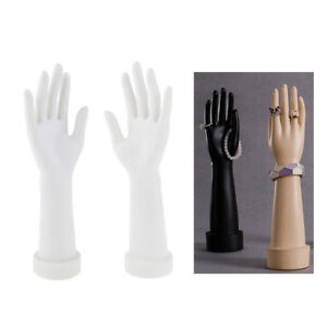 1pair Mannequin Hand Arm Display Watches Gloves Jewelry Model Stand White