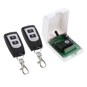 Wireless Rf Switch Dc 12v Remote Control Switch 2 Transmitter And 1 Receiver