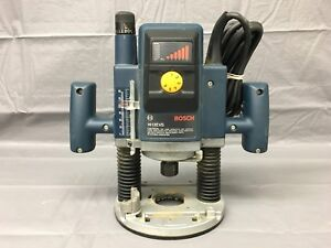 Used Bosch 1613evs 115v Corded Variable Speed 12 000 22 000 Rpm Plunge Router