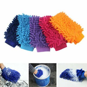 New Microfiber Car Kitchen Household Wash Washing Cleaning Glove Sponge Cloth