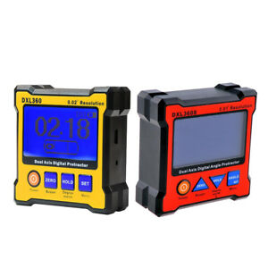 Dxl360 Dxl360s Dual Axis Digital Protractor Lcd Protractor Inclinometer 2pc