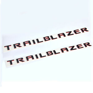 2x Oem Trailblazer Emblem Decal Sticker Badge 3d Logo For Chevrolet L Red Line