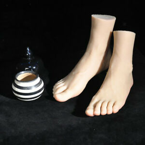 Male Flexible Foot Model For Massage Training Mannequin Display Shoes Socks