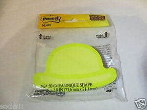16 Packs 3m Super Sticky Post It Notes Green Bowler Hat Shape 2050 dm hat