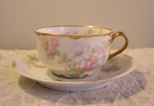 Vintage Haviland Limoges Bone China Cup Saucer