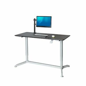 Airlift 55 Sit stand Mobile Desk Adjustable Height Range 28 1 To 43 9