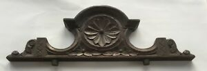 Two Antique Carved Wood Pediments 29 21