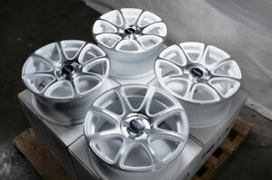 15 Wheels Fit Nissan Sentra Versa Prius Honda Civic Accord White Rims 4 Lugs