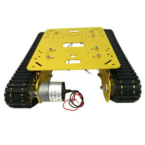 Smart Robot Rc Car Tracked Tank Chassis Car Parts For Arduino Raspbe Golden
