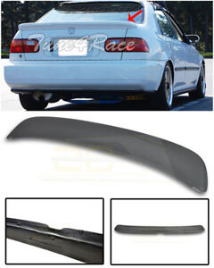 For 92 95 Honda Civic Eg9 Sedan Primer Black Ferio Style Rear Spoiler Lid Wing