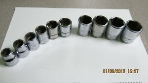 Snap On 10 Piece Metric Socket Set 3 8 Drive 9mm 19mm 6 Point Shallow No 15mm