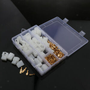 20 Kits 2 4 Pin 6 3mm Crimp Terminal Cable Locking Male Female Connector