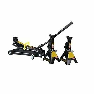 Torin T82253w Black Jack Trolley Jack W 2 Stands Lifting Range 5 1 13 8 Inches