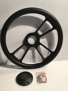 Forever Sharp 1099b hb5 3 spoke Muscle Steering Wheel W Half Wrap
