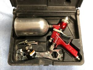 Red Binks Model M1 G Hvlp Gravity Feed Spray Gun W Cup And Case