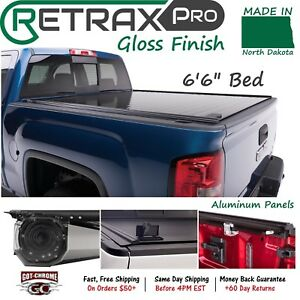40462 Retraxpro Retractable Tonneau Cover Silverado Sierra 6 6 Bed 2014 2018