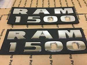 New Dodge Ram 1500 Set Of Left Right Side Door Fender Logo Letters Chrome