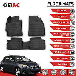 Floor Mats Liner 3d Molded Fit Black For Toyota Corolla Matrix 2009 2013