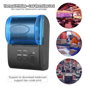 Portable Mini Thermal Printer 58mm Wireless Bluetooth Receipt Bill Pos Printer