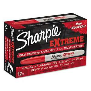 Sharpie Extreme Marker Fine Point Red box Of 12