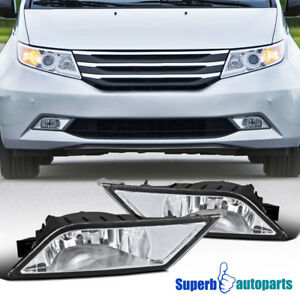 For 2011 2013 Honda Odyssey Replacement Bumper Fog Lights Driving Lamps switch
