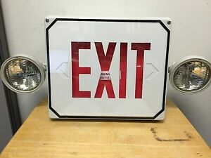 Siltron Emergency Exit Sign And Light Combo