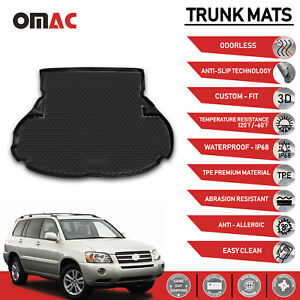 Cargo Liner Trunk Black Floor Mat 3d Molded Fits Toyota Highlander 2001 2007