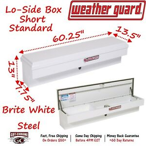 175 3 01 Weather Guard White Steel Lo Side Mount Box 60 Truck Toolbox