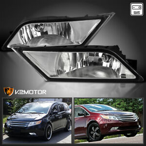 Fits 2011 2013 Honda Odyssey Clear Bumper Driving Fog Lights switch Left right