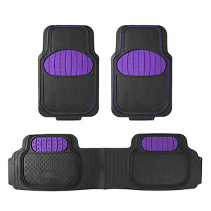 Fh Group Universal Floor Mats For Auto Car Suv For Football Fans Purple Black