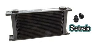 Setrab Oil Cooler P n 619 19 Row P n 50 619 7612 With Fittings Free Ship