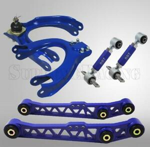 Blue Front Rear Camber Rear Lower Control Arm Kit Civic 88 91 Ef Integra 90 93