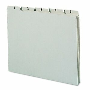 Smead Recycled Top Tab File Guides Daily 1 5 Tab Pressboard Letter 31 set