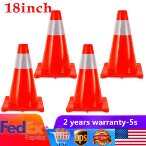 18 Inch Road Traffic Cones Reflective Overlap Parking Lots Emergency Safety Cone