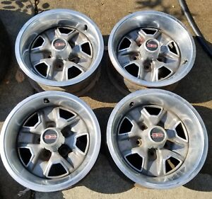 4 Oldsmobile 14 X 6 Rally Oem Wheels Rims Caps Trim Rings Read