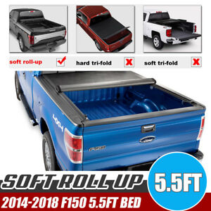 Fit 2014 2018 Ford F150 5 5 Bed Tonneau Cover Roll Up Truck Bed