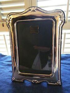 Antique Vintage Large 9 X 7 English Sterling Silver Picture Frame