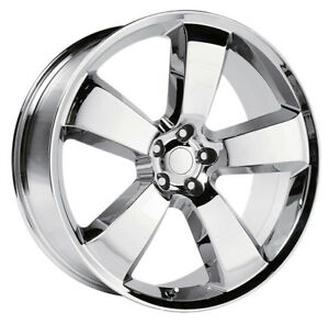 4 20 Inch Replica 119c Dodge Charger Srt8 20x9 5x115 20mm Chrome Wheels Rims