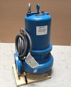 Goulds Water Technology 7 1 2 Hp Manual Submersible Sewage Pump 460 Vol Ws7534d4