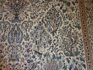 Hand Knotted Carpet Wool And Silk 7 X 10 5 Naein 6 La