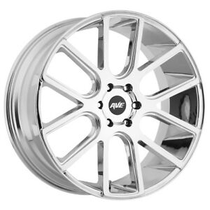 4 new 18 Inch Avenue A614 18x8 5x112 40mm Chrome Wheels Rims