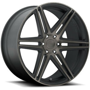 4 22 Inch Dub S123 Skillz 22x9 5 6x139 7 30mm Black Machined Tint Wheels Rims