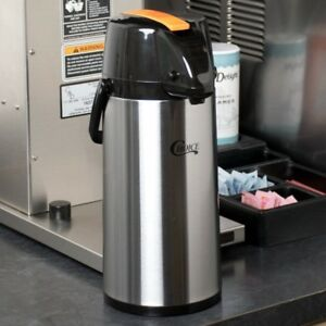 1 9 Liter Decaf Coffee Air Pot Commercial Stainless Steel Airpot Glass Lined