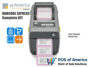 Pcamerica Bce Barcode Express Barcode Printing Package Software Printer 110 220