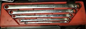 Snap on 5pc Sae Set Long 0 Degree Offset Double Box Wrench 1 4 13 16