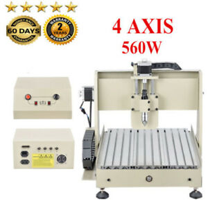 4 Axis 560w 3040 Router Engraver Woodworking Drilling Machine 3d Cut 110v