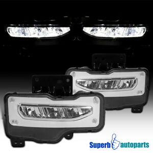 For 2016 2018 Gmc Sierra 1500 Led Front Bumper Fog Lights Driving Lamps switch