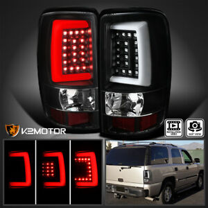 Black 2000 2006 Chevy Suburban Tahoe Gmc Yukon Denali Led Light Bar Tail Lights